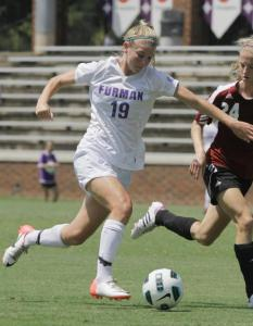college soccer player Furman freshman Stephanie Devita
