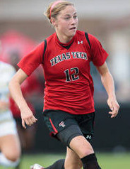 college soccer player Janine Beckie Texas Tech