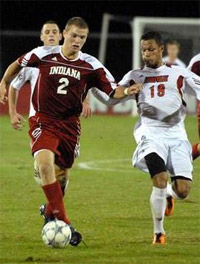 indiana men's college soccer player eric zavaleta