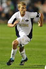 akron men's college soccer player scott caldwell
