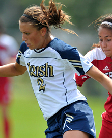 college soccer player Mandy Laddish notre dame