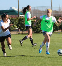 girls club soccer players TDS Combines