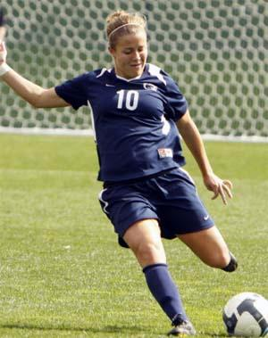 Women's college soccer player Christine Nairn.