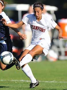 Women's college soccer player Christen Press of Stanford.
