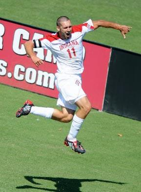 indiana men's soccer player will bruin