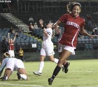 Women's college soccer players from Stanford women's college soccer.