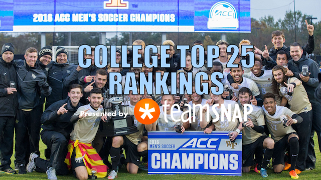 TopDrawerSoccer Men's Top 25: The Big Dance