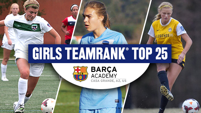 Barca Academy Girls TeamRank Top 25