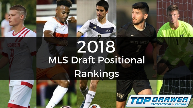 2018 MLS Draft: Top 5 by position