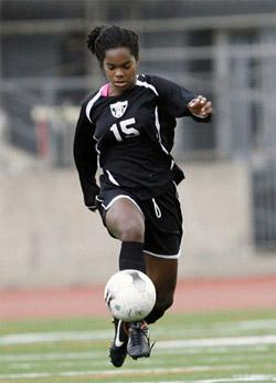 girls club soccer player kayla mills