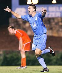 north carolina men's college soccer player billy schuler