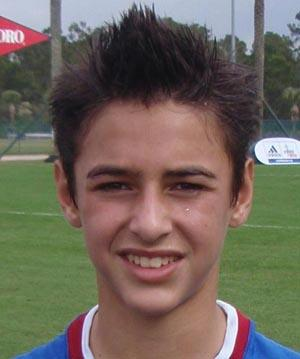 boys youth club soccer player diego fagundez