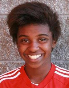 girls youth club soccer player rilka noel