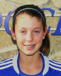 dallas sting girls youth club soccer player caity heap
