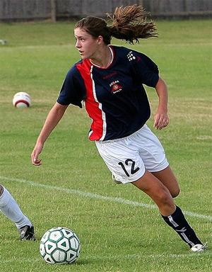 girls youth club soccer player heather magee
