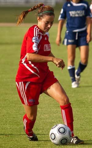 Elite girls club soccer player Rebecca Twining.