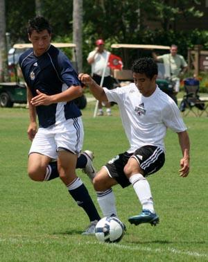 Elite boys club soccer players compete in a club soccer tournament