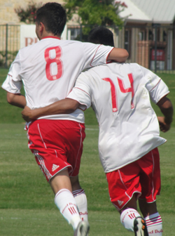 Adun B and Moreno celebrate