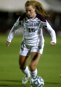 Kelley Monogue, Texas A&M, college soccer, women's soccer, Aggies