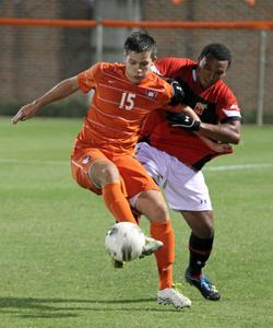 clemson men's college soccer player brynjar benekictsson