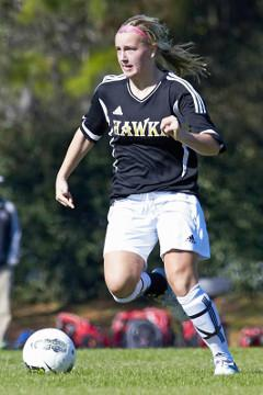 club soccer player Rachel Marble Michigan Hawks