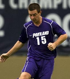 college soccer player Steven Evans