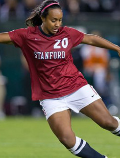 college soccer player Stanford Mariah Noguiera