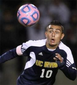 uc irvine men's college soccer player miguel ibarra
