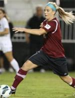 Santa Clara women's college soccer player Julie Johnston.